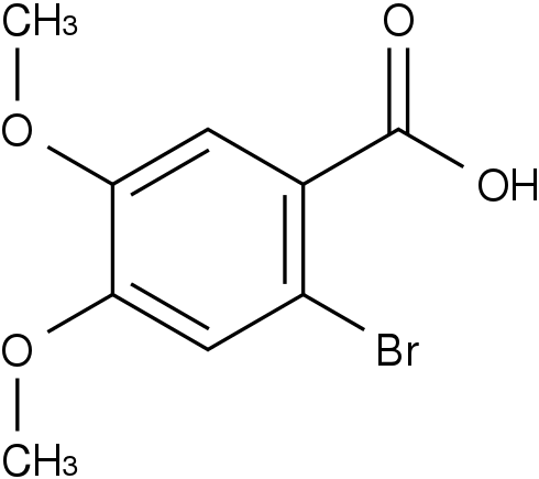 2-溴-4,5-二甲氧基苯甲酸 2-Bromo-4,5-dimethoxybenzoic acid