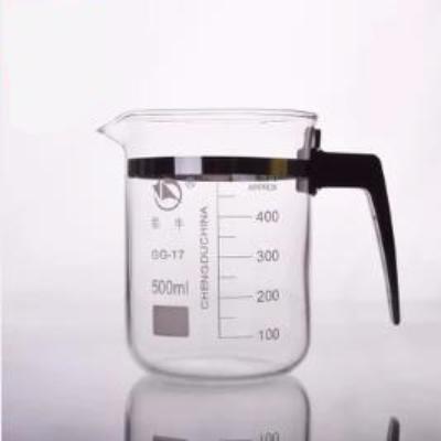 塑柄塑料柄高硼硅玻璃烧杯500/800/1000ml