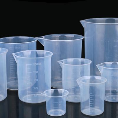 塑料烧杯量筒带刻度烧杯透明计量杯50/100/200/ 250/500/1000ml