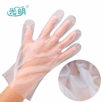 光明 一次性防滑聚乙烯(CPE)手套 加厚