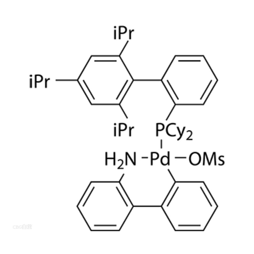 甲磺酸(2-二环己基膦-2',4',6'-三异丙基-1,1'-联苯基)(2'-氨基-1,1'-联苯-2-基)钯(II)