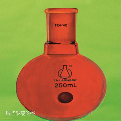 棕色单口圆底烧瓶(厚壁)厚玻管手工模具吹制