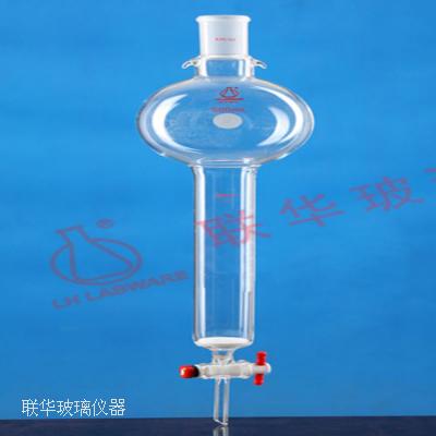 具砂板磨口储存球层析柱(四氟节门)