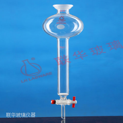 具砂板球磨口储存瓶层析柱(四氟节门)
