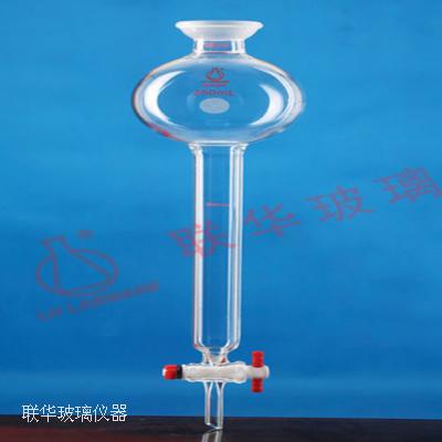 无砂板球磨口储存瓶层析柱(四氟节门)